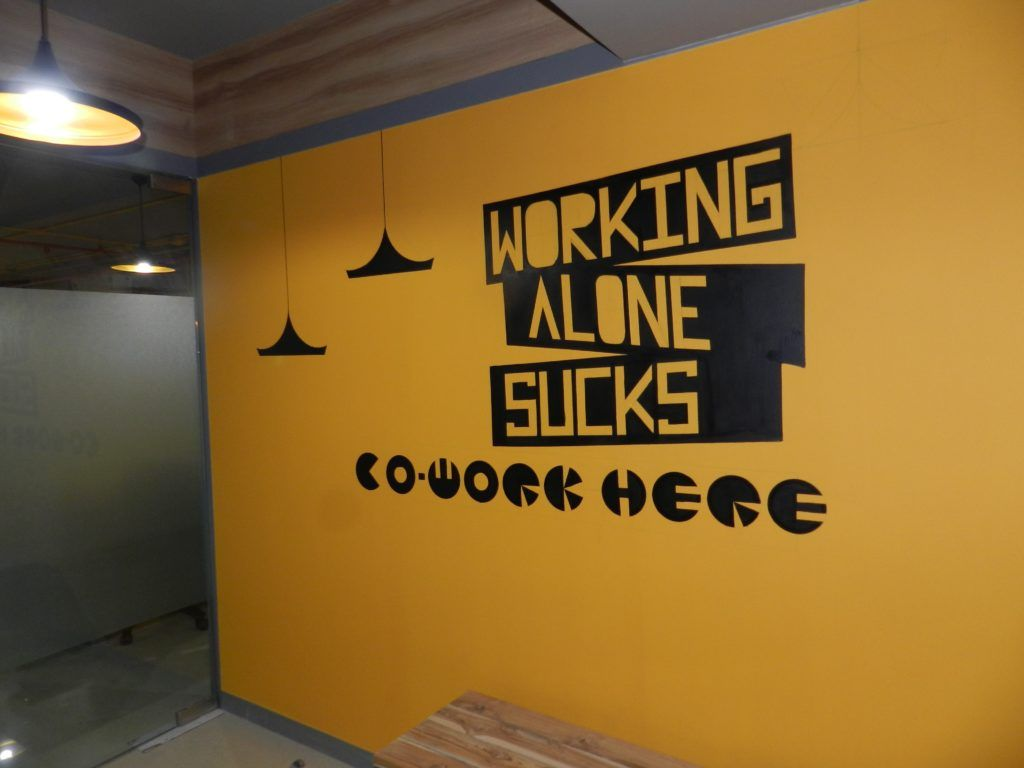 10. Isn't that the chief reason for coworking? On the walls of a coworking space in Indore, India