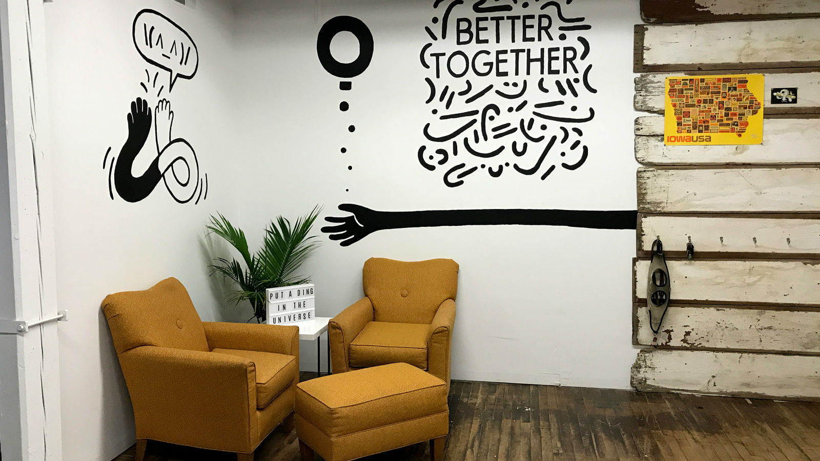 19. From the walls of Yoimono, a coworking space for creatives in Iowa