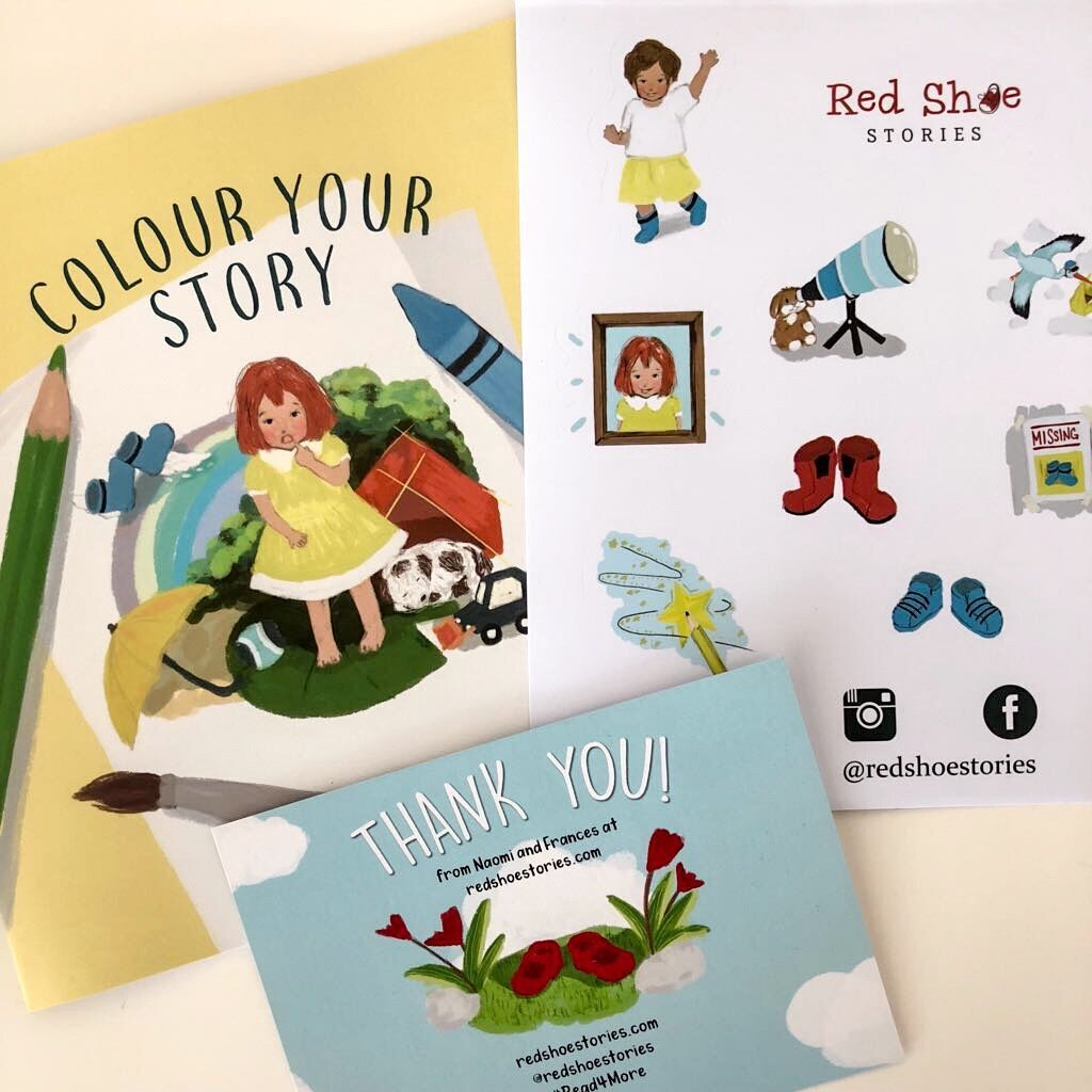 Goodies for the Red Shoe Stories Kickstarter Campaign