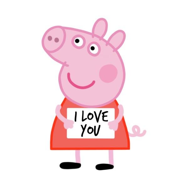Peppa Pig Sticker  Image via  Teepublic
