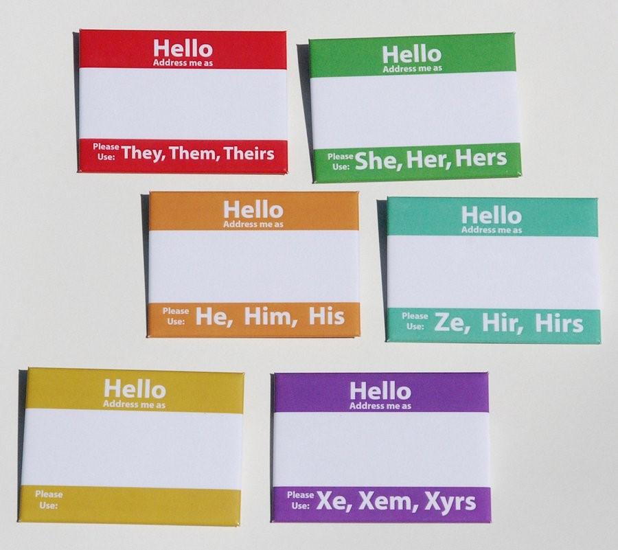 Pronoun Sticker Examples  Image via  Good is