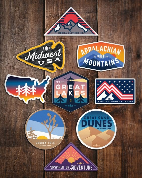 Merica Clothing Company''s Landscape Stickers  Image via  Pinterest