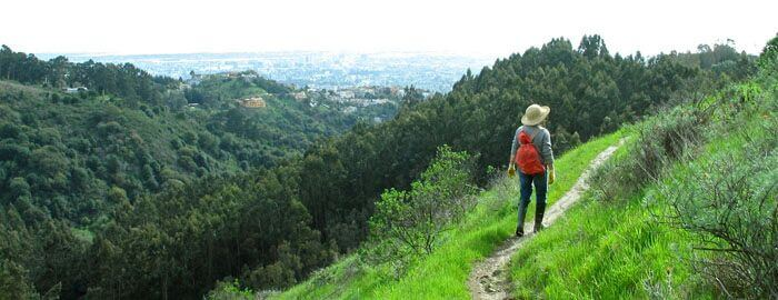 hiker with red backpack on Side Hill Trail.jpg