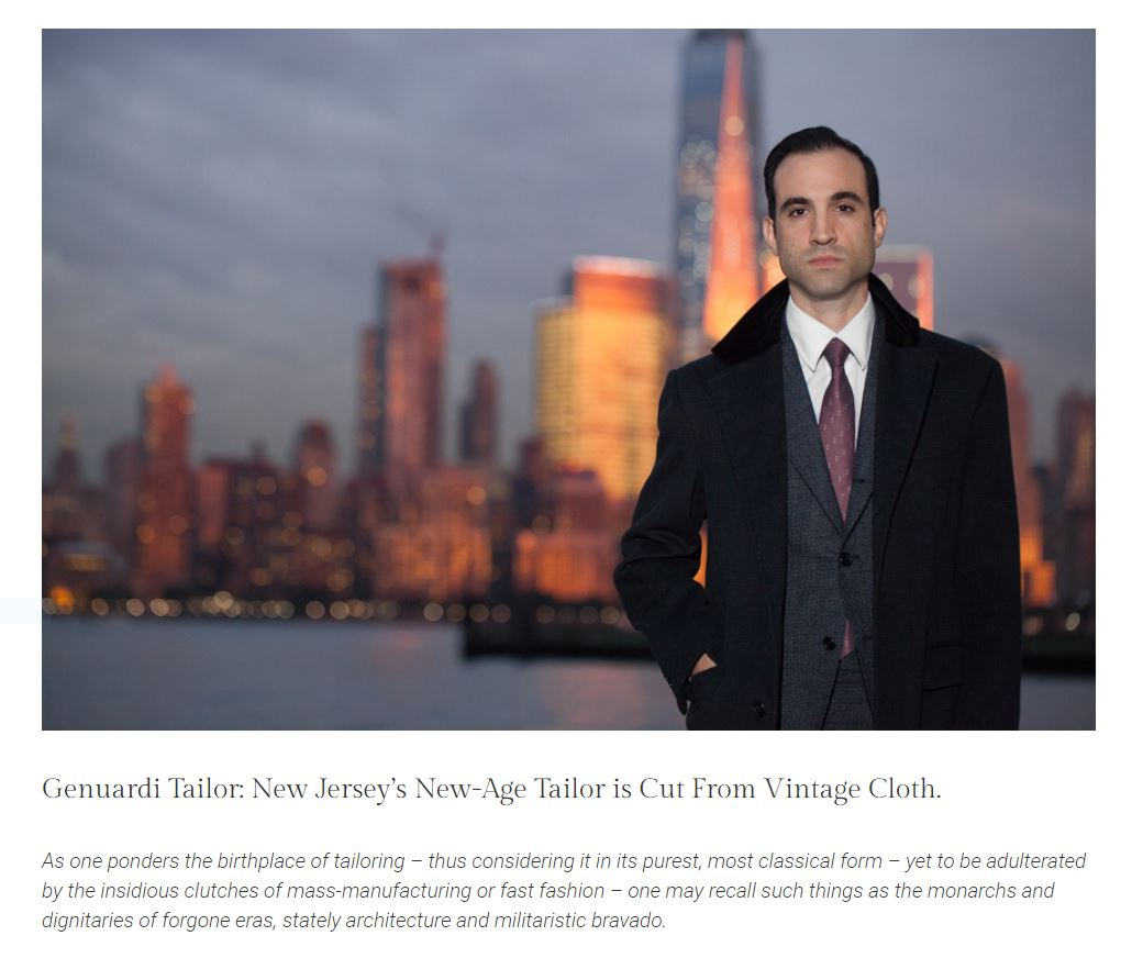 New Jersey's New-Age Tailor is Cut From Vintage Cloth - Sartorial Journal