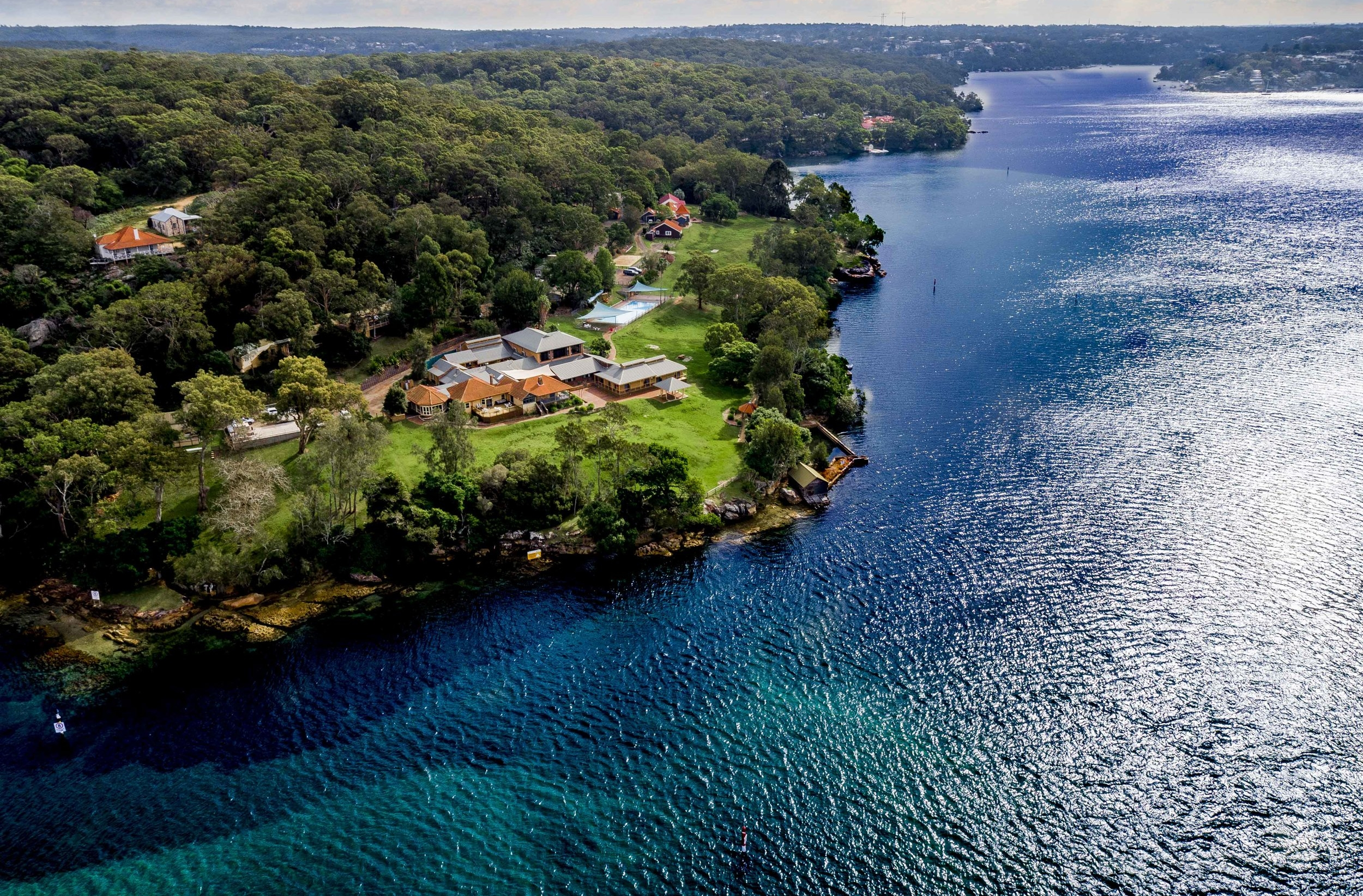 Rathane - This heritage building, with a beautiful renovated sandstone dining hall, looks straight down the Port Hacking River, all the way to the ocean.