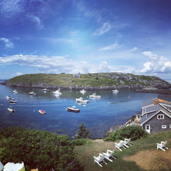 Monhegan Harbor from the Island Inn  - A favorite destination for inspiration