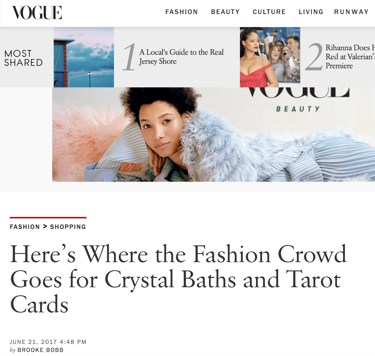 "VOGUE / JUNE 2016    Morgan Yakus is a fashion vet herself. She once styled Lauren Hill for her ""Miss Education"" tour, worked in PR at Gucci, and was also the cofounder and owner of No.6 Store in New York. This was all until she decided to enter the world of hypnosis and past-life regression. She now helps her clients rid themselves of bad habits, clear their minds of past trauma, and relieve deep stress."