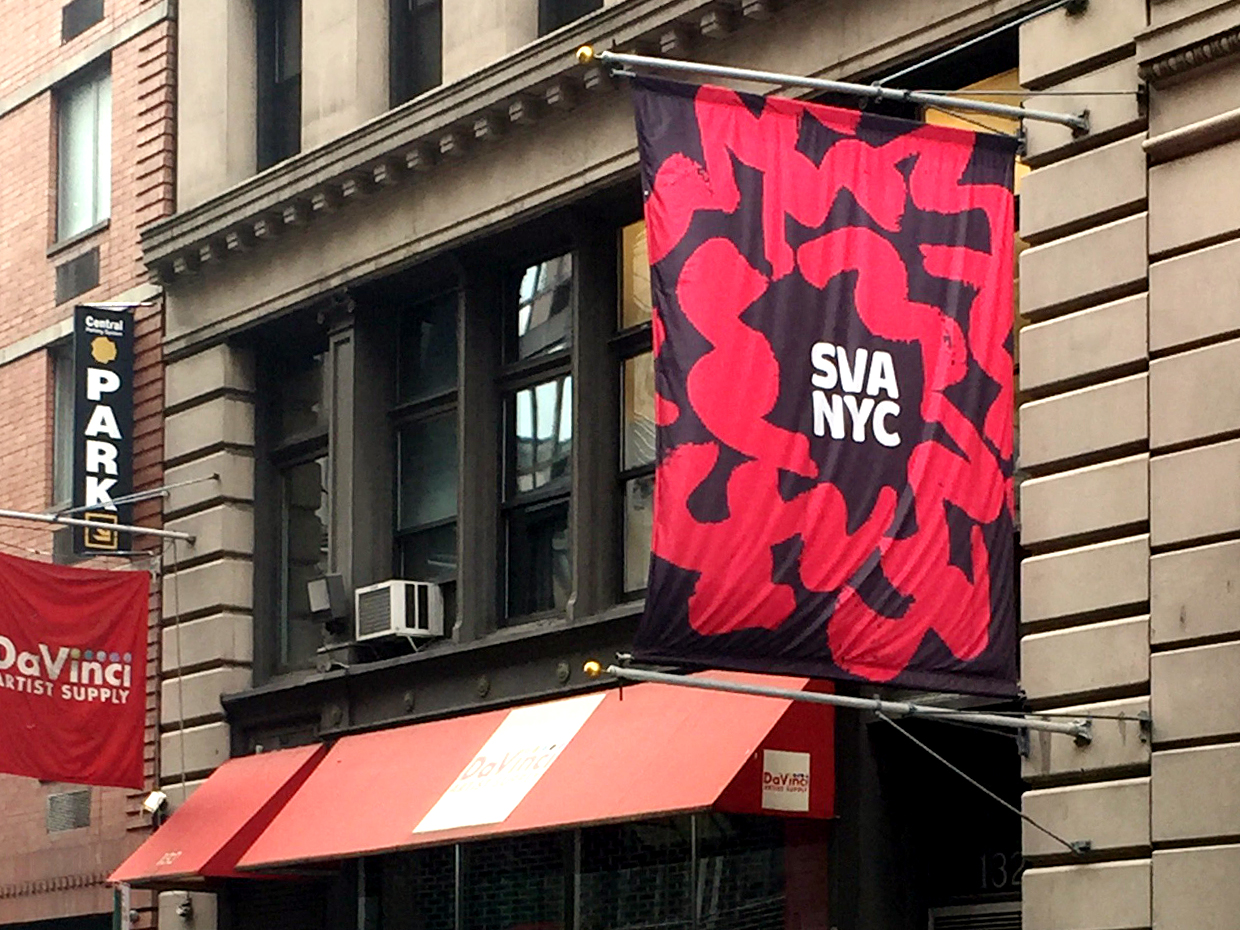 The SVA is where Debbie Millman records her Design Matters podcast.