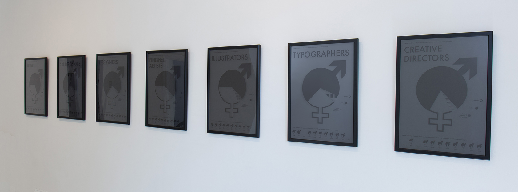 Anonymity poster designs which were AGDA Award finalists.