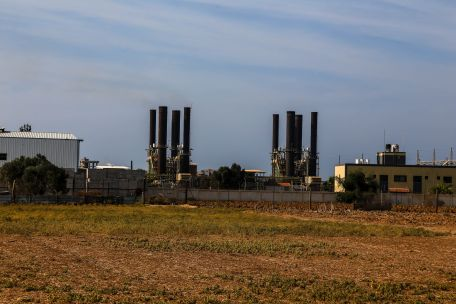Gaza's sole power plant out of commission. Photo by Gisha.