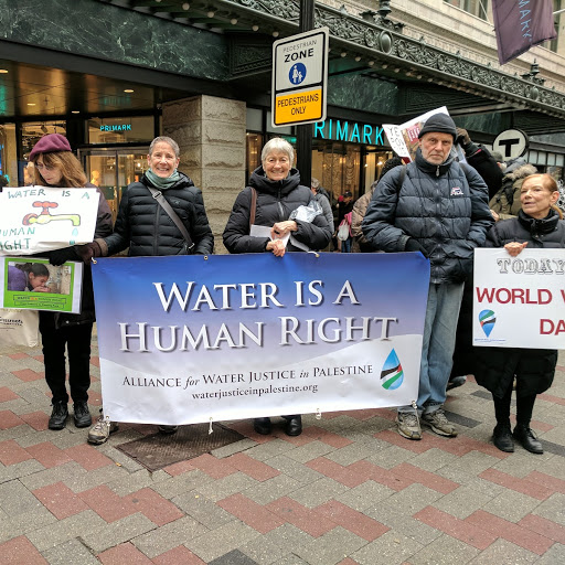 The Alliance stands out for water justice in Palestine.