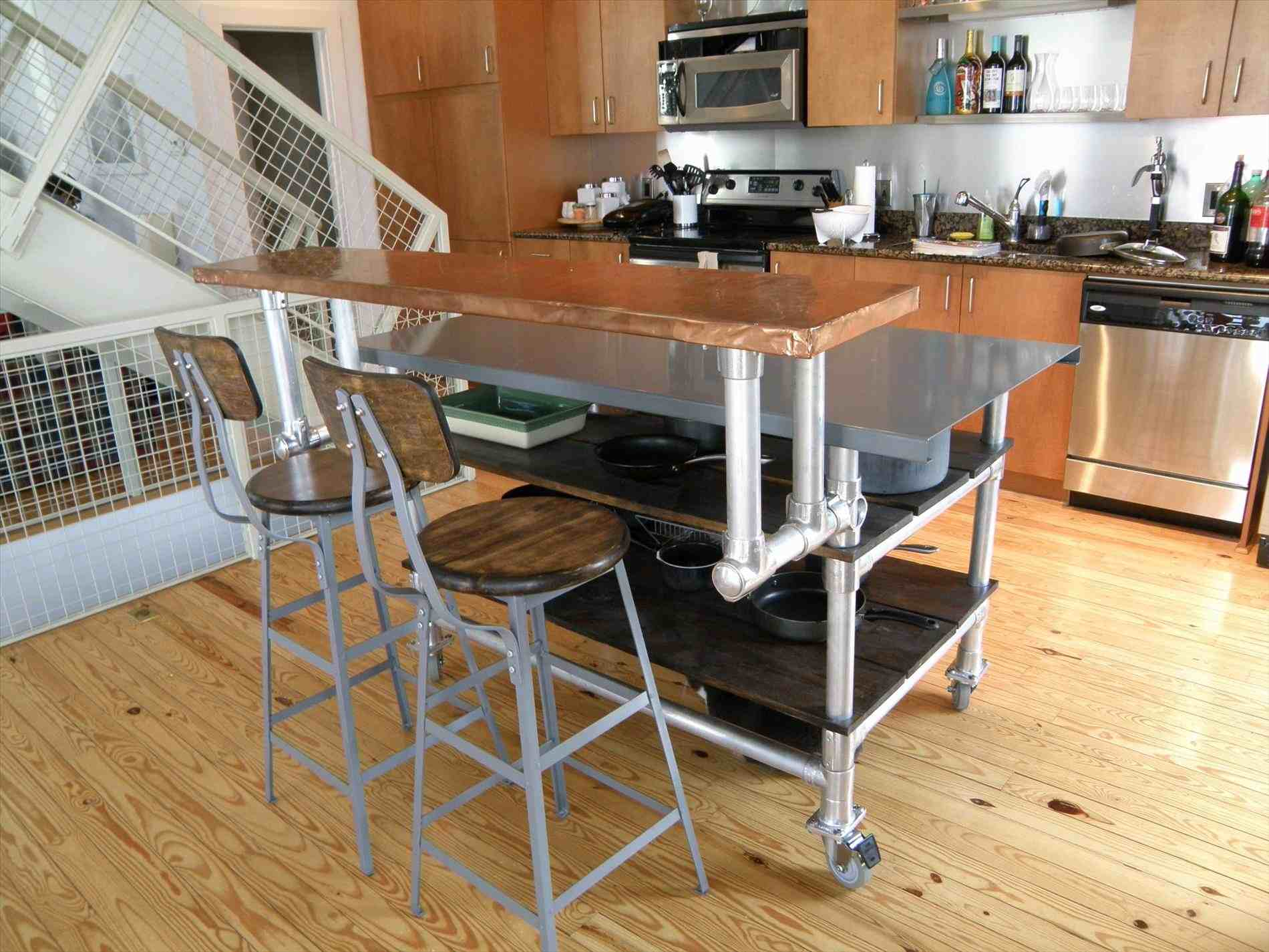 A rolling kitchen island is convenient, versatile, and excellent for a smaller kitchen. This type of island is not stationary, and can be moved from space to space at the user's discretion. When not in use, a rolling kitchen island can be tucked away in a corner and out of the way of the rest of the kitchen. The rolling kitchen island is great for someone that needs just a little more room to work with at an affordable price.
