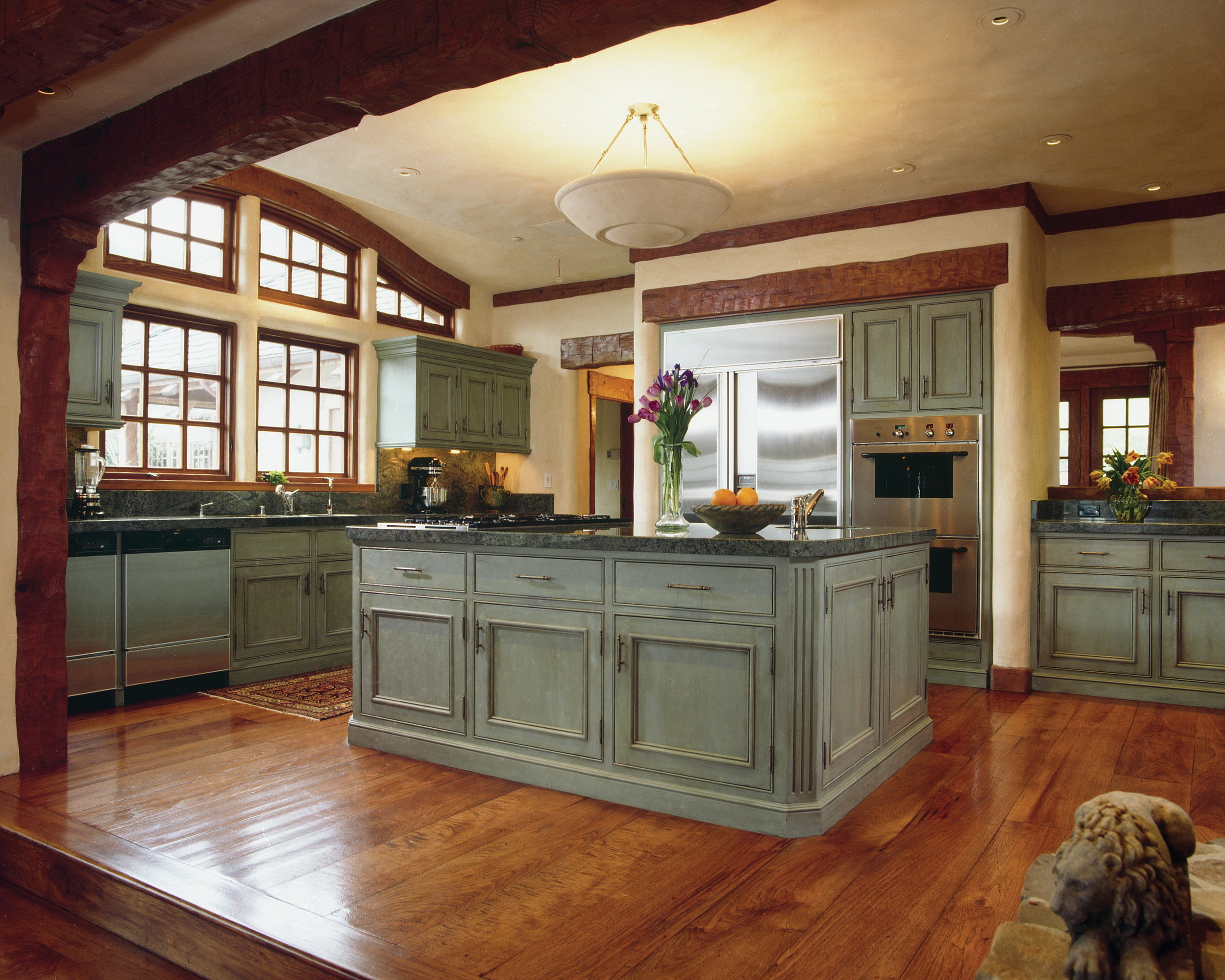 """If you're looking for a statement piece that will catch the eye, the furniture-style kitchen is the best choice! This kitchen island tends to be a little smaller than the typical kitchen island. It is best for someone looking to add a unique touch to their kitchen, who wants a more """"homey"""" feel, and doesn't need a lot of extra space."""