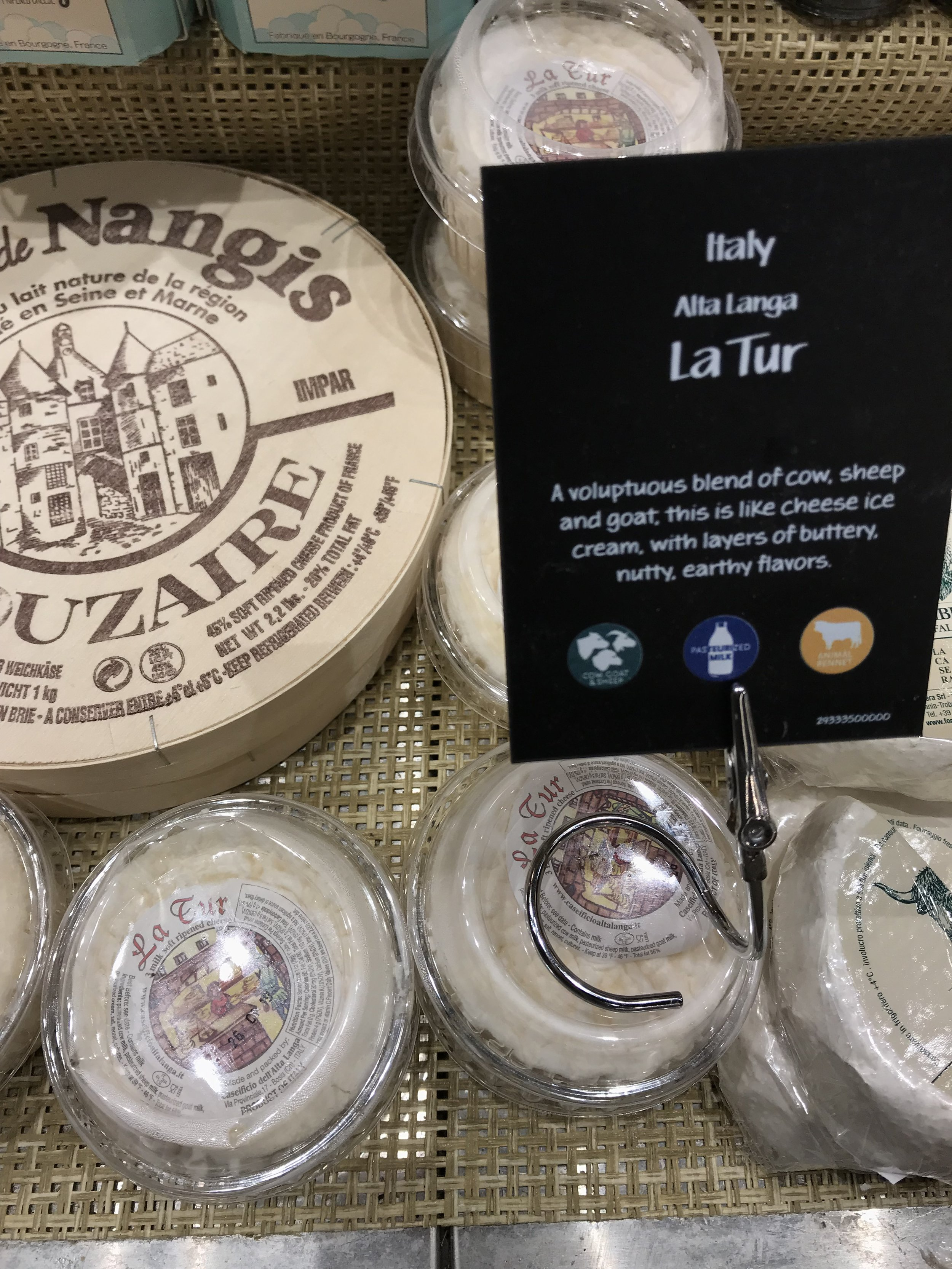 La Tur is a blend of cow, sheep and goat cheese and won't disappoint!