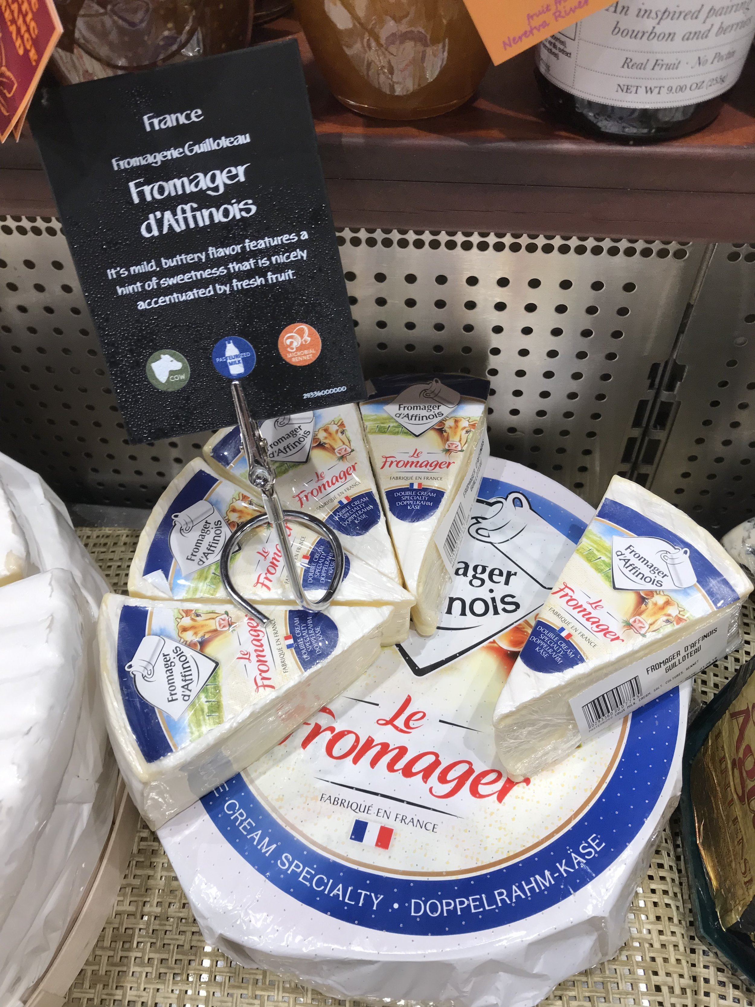 Fromager d'Affinoisis very creamy and even softer than La Tur or Mt. Tam.