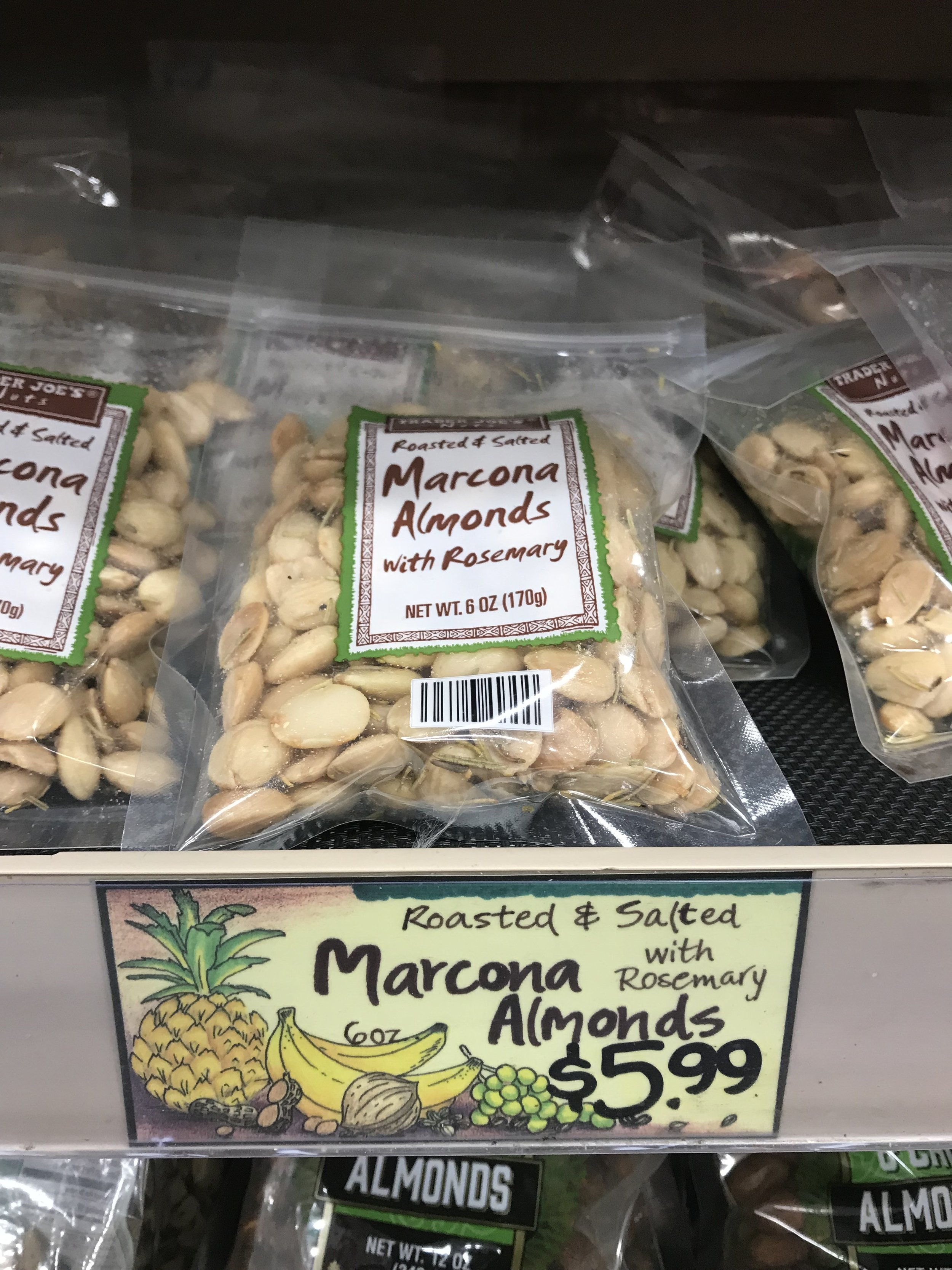 Trader Joe's has Rosemary Marcona Almonds for a steal
