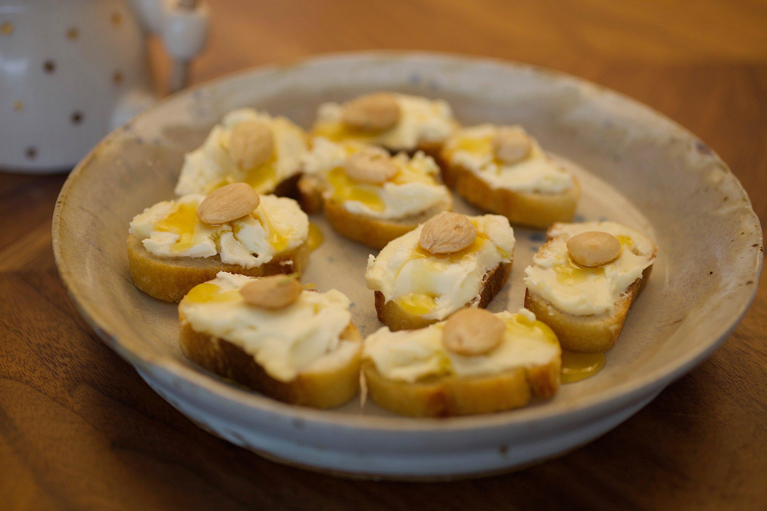 Marcona Almond- Triple Cream-Honey- Baguette Fancy Snacks