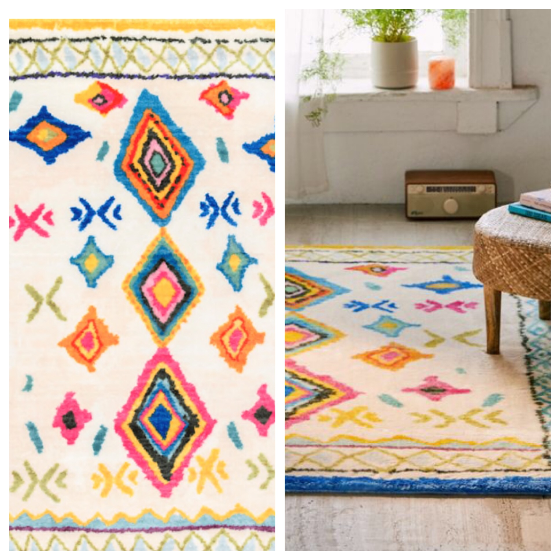You can get the Casa Too Shag Rug for $389 from Urban Outfitters OR you can get the Multi Soft Souma Kids watercolor Area rug from RUGSUSA for $246. THEY ARE EXACTLY THE SAME YOU GUYS!!!