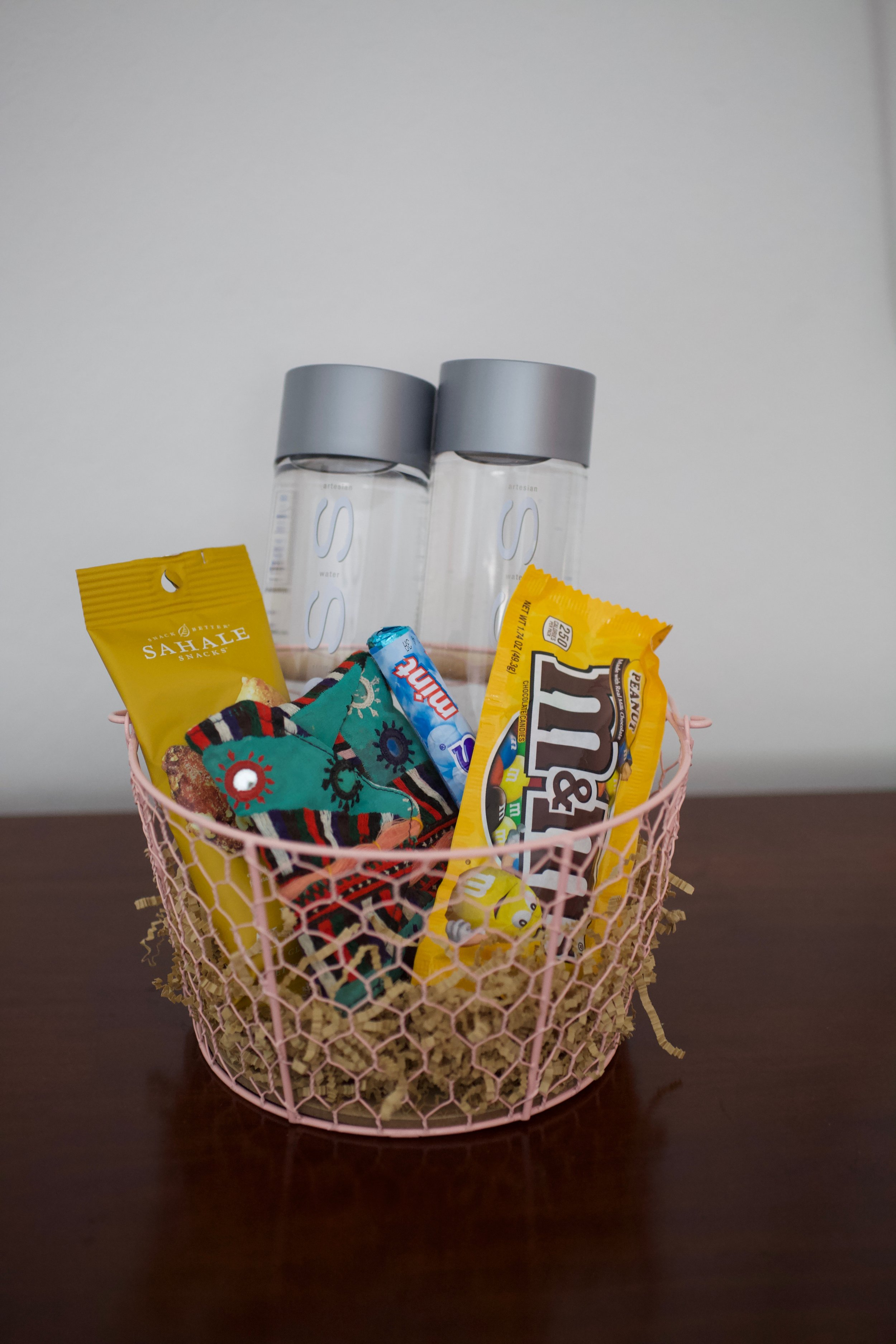 The Guest Basket is a Poor Man's Mini Fridge: I love to personalize it to the guest that's coming!