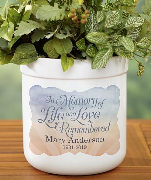 Memorial Flower Pot
