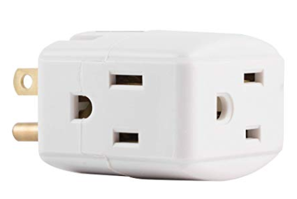 You will need a  3 prong outlet adaptor  if you do not already own one (5).