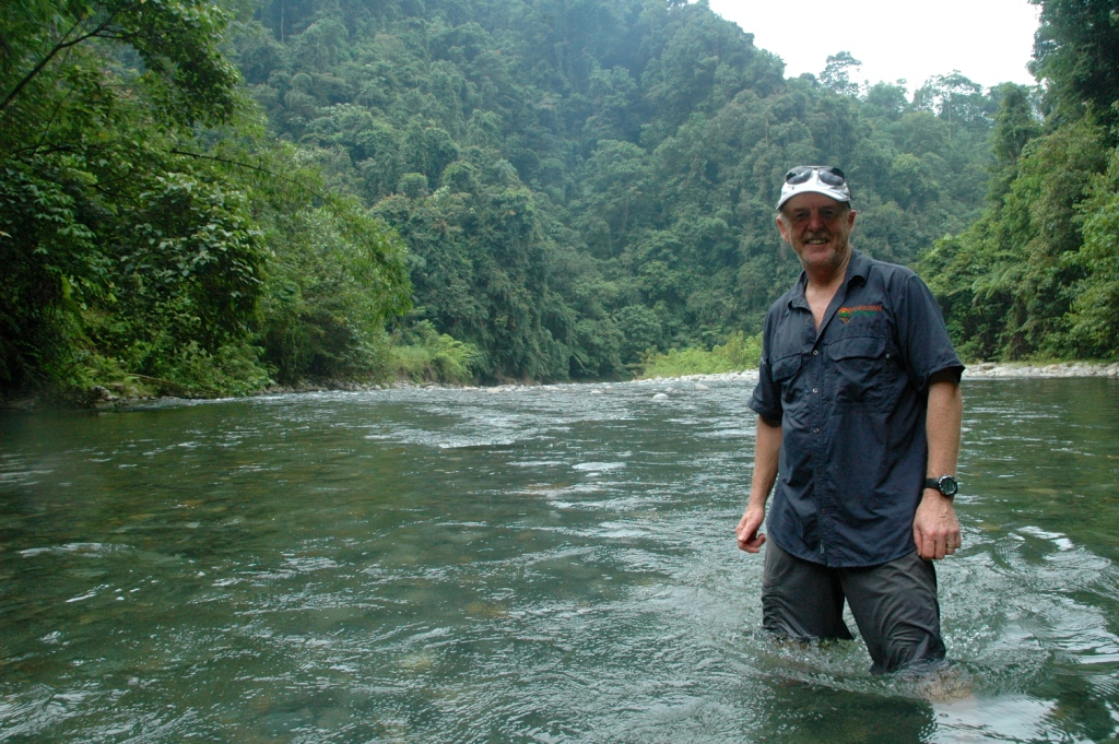 """Garry is from Sydney, Australia and is Managing Director/ Expedition Manager with Orangutan Odysseys.  He has always had a keen interest in animals. After traveling to Central Borneo to see the orangutans on a fundraiser tour he organized, he was struck by the devastation and significant problems that were facing the orangutans, other animals, the rainforests and the indigenous peoples. After additional similar tours he decided he wanted to dedicate more time and effort towards raising much needed funds to support the conservation NGOs along with increasing awareness around the world . Hence the eco-tourism company 'Orangutan Odysseys', was born and its mission to """"Save the Environment through Tourism"""" was created.  He organizes responsible eco-friendly tours across Borneo and Sumatra. These allow people from around the world to experience observing orangutans both in the wild and in conservation areas. He spends considerable time traveling throughout the various regions of Indonesia and Malaysia to find new and exciting locations where we can organize new tours that will allow guests a unique and exciting adventure. This includes meeting with local tourism groups and the non-profit conservation teams working in these areas to discuss the best methods for introducing tourism that can educate, compliment and benefit the existing conditions. He continually work on new ideas and tours that will further help to raise the funds and awareness that is needed for us to succeed in our mission.  What Garry likes best about his job is he gets to trek through jungles, cruise up rivers and see some of the most magnificent animals and environments that exist on earth. He has been very fortunate to be given opportunities to get to know the many fantastic dedicated people who are working so hard, under difficult circumstances, to save the orangutans and rainforests. They really do inspire him. He greatly enjoys the chance to experience visiting and watching the orangutans, elephant"""