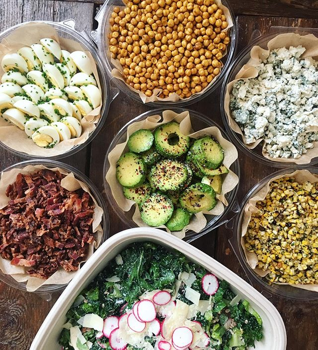 You and Bob from accounting both love a Cobb but can't agree on the proper bacon to blue ratio? Our build-your-own set up let's everyone have their salad their way.