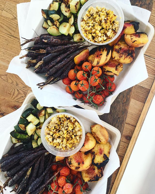 Nature is making our job so easy right now. Delivering platters on platters of the juiciest peaches and tomatoes and earthy/sweet carrots, zucchini and corn. Get the last of these goodies before the season ends!