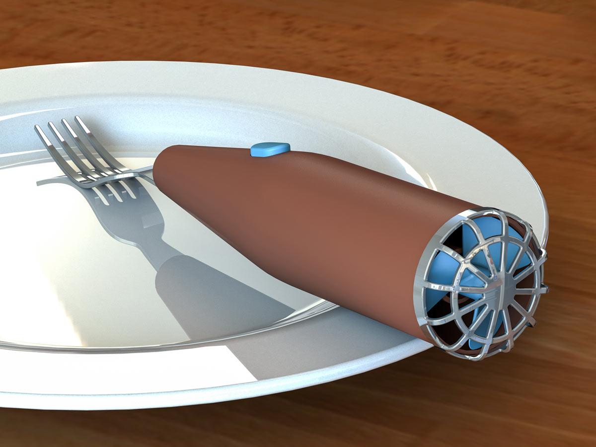 3D visualization of Cooling Fork