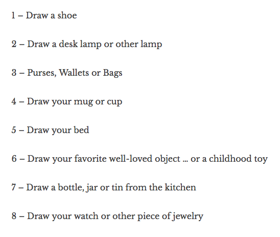 Drawing Challenge by Danny Gregory