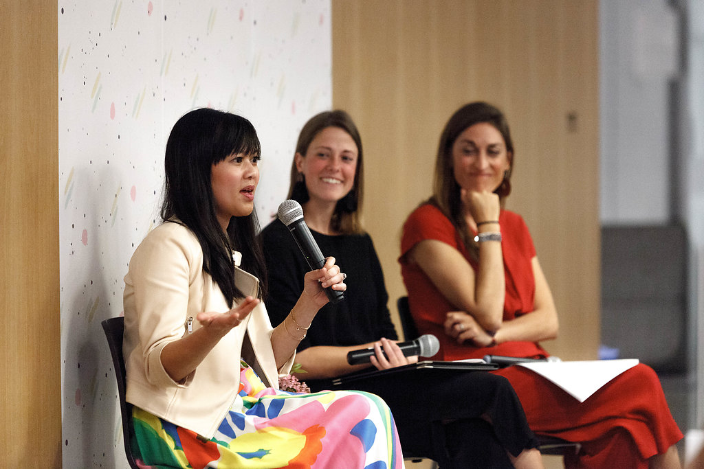 Joy Cho of Oh Joy!, Chelsea Sonksen of Bossladies, and Marisa Vitale of Marisa Vitale Photography