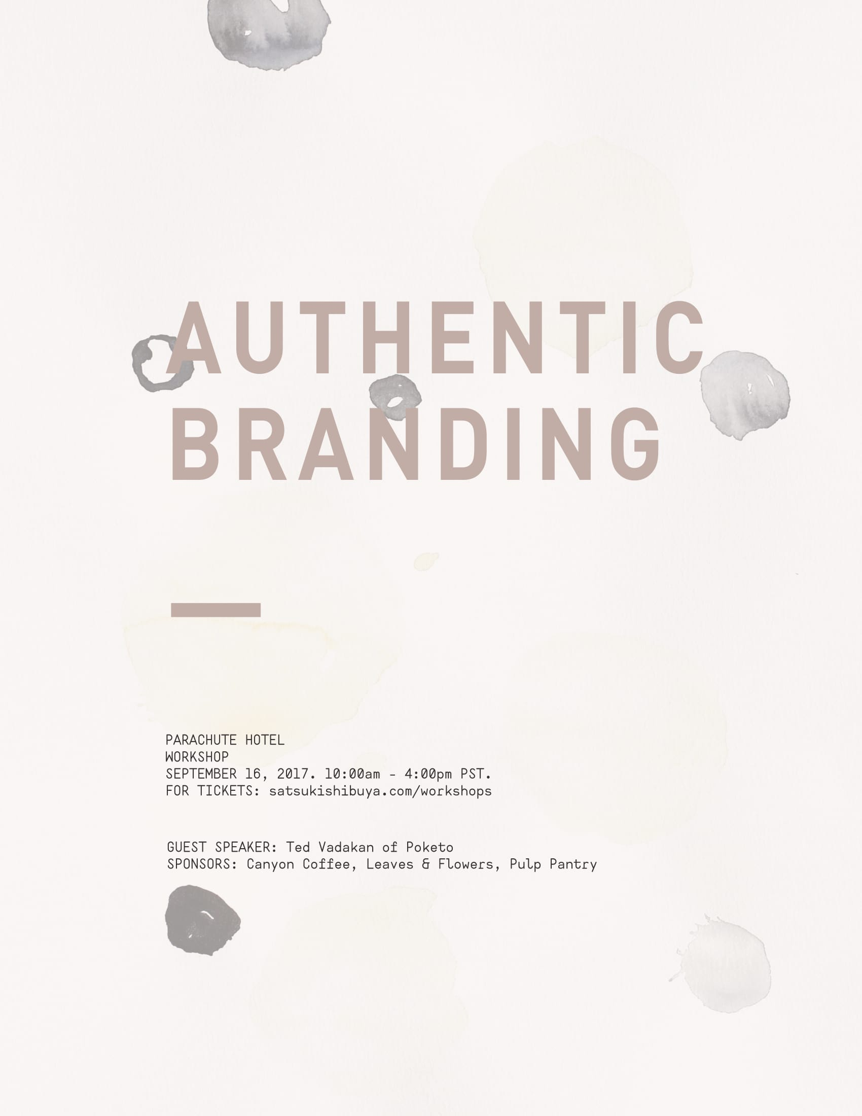 Authentic Branding Workshop with Satsuki Shibuya
