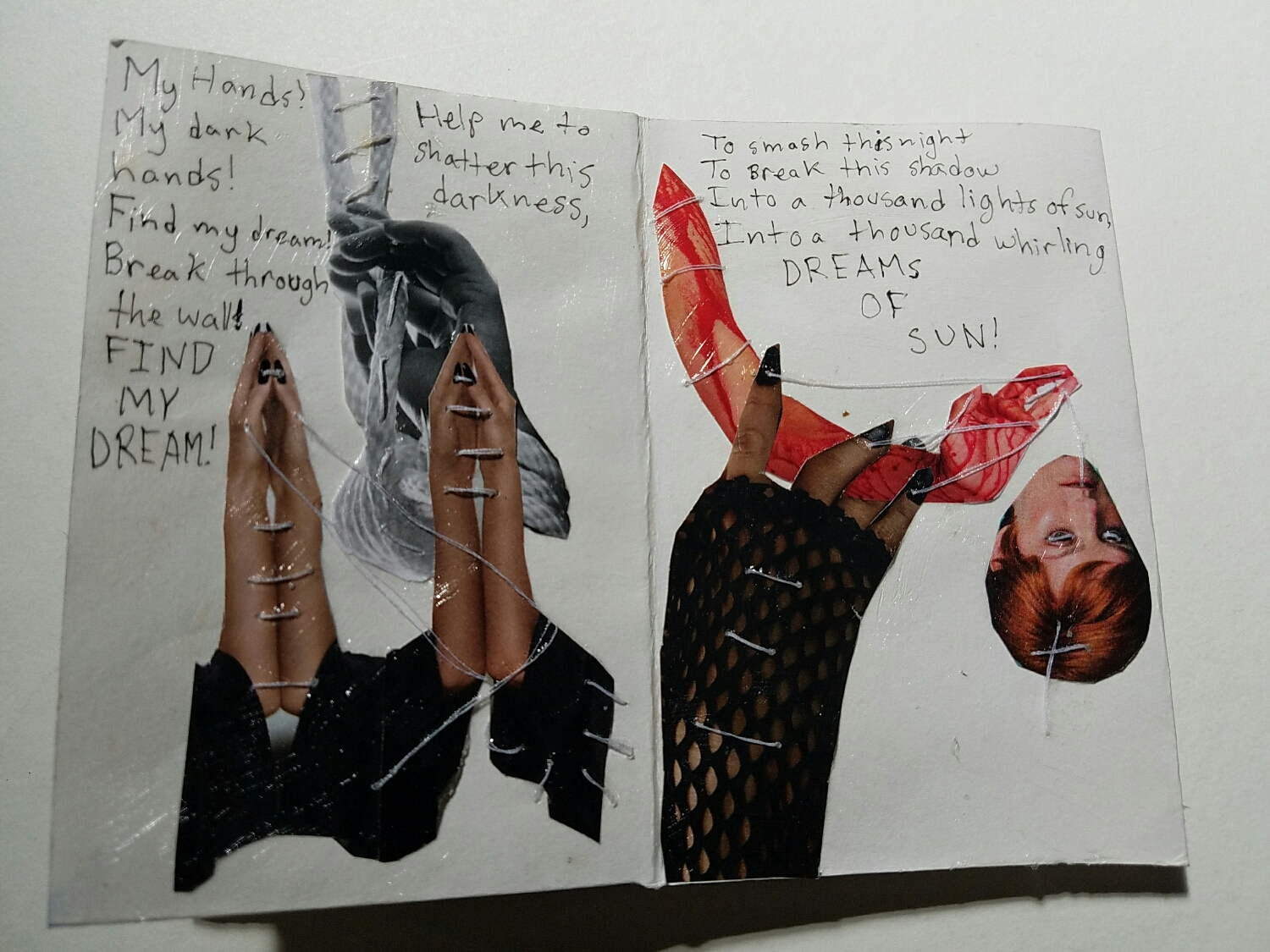 Detail of Kyra's book.
