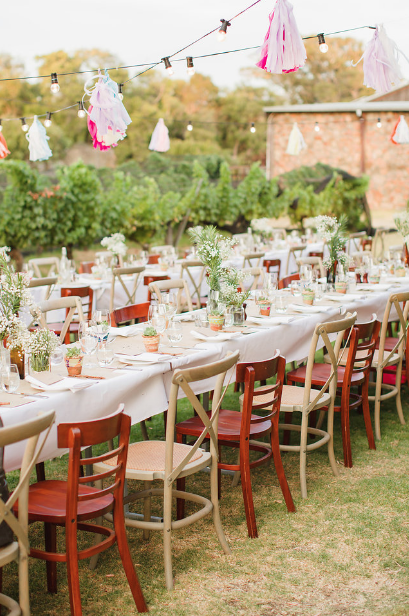 Table arrangements, ceiling installations, welcome and seating boards, cake florals and more...
