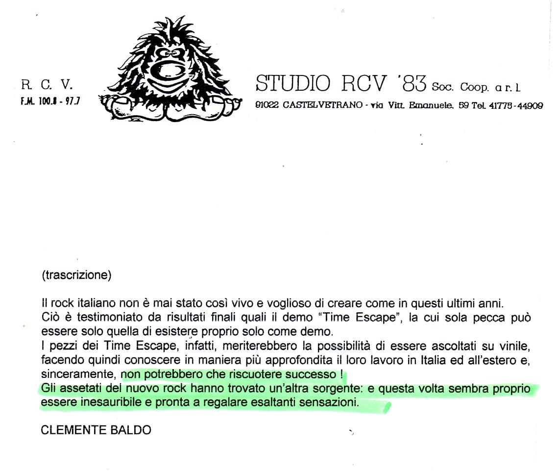 RADIO STUDIO RCV (ITALY) - 1988