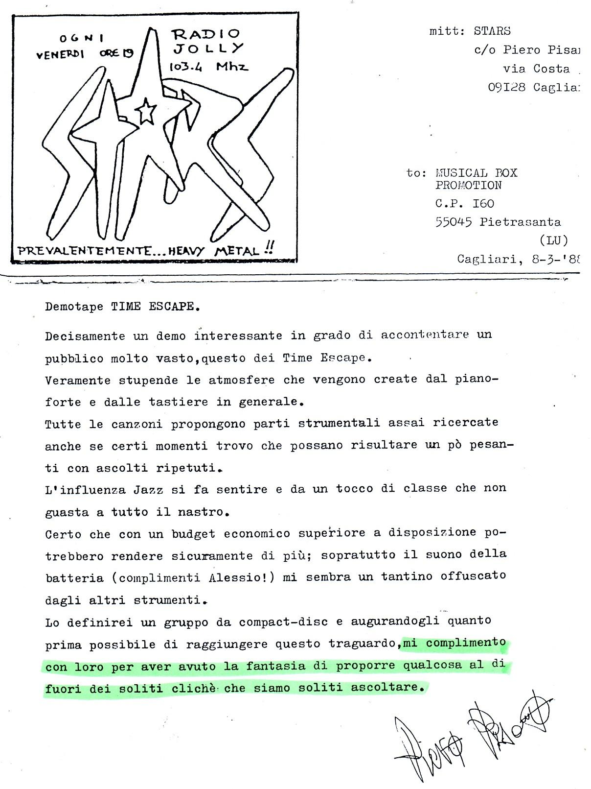 RADIO JOLLY (ITALY) - 1988