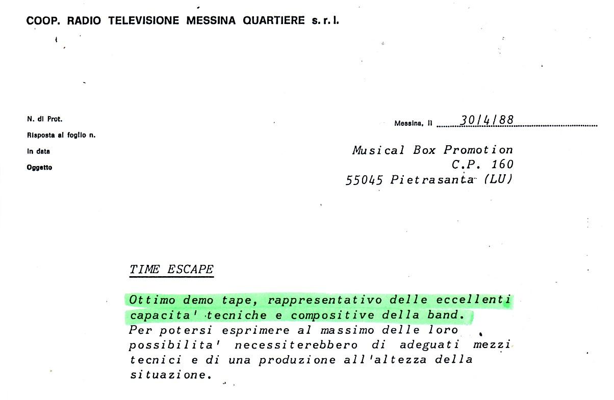 RADIO MESSINA (ITALY) - 1988