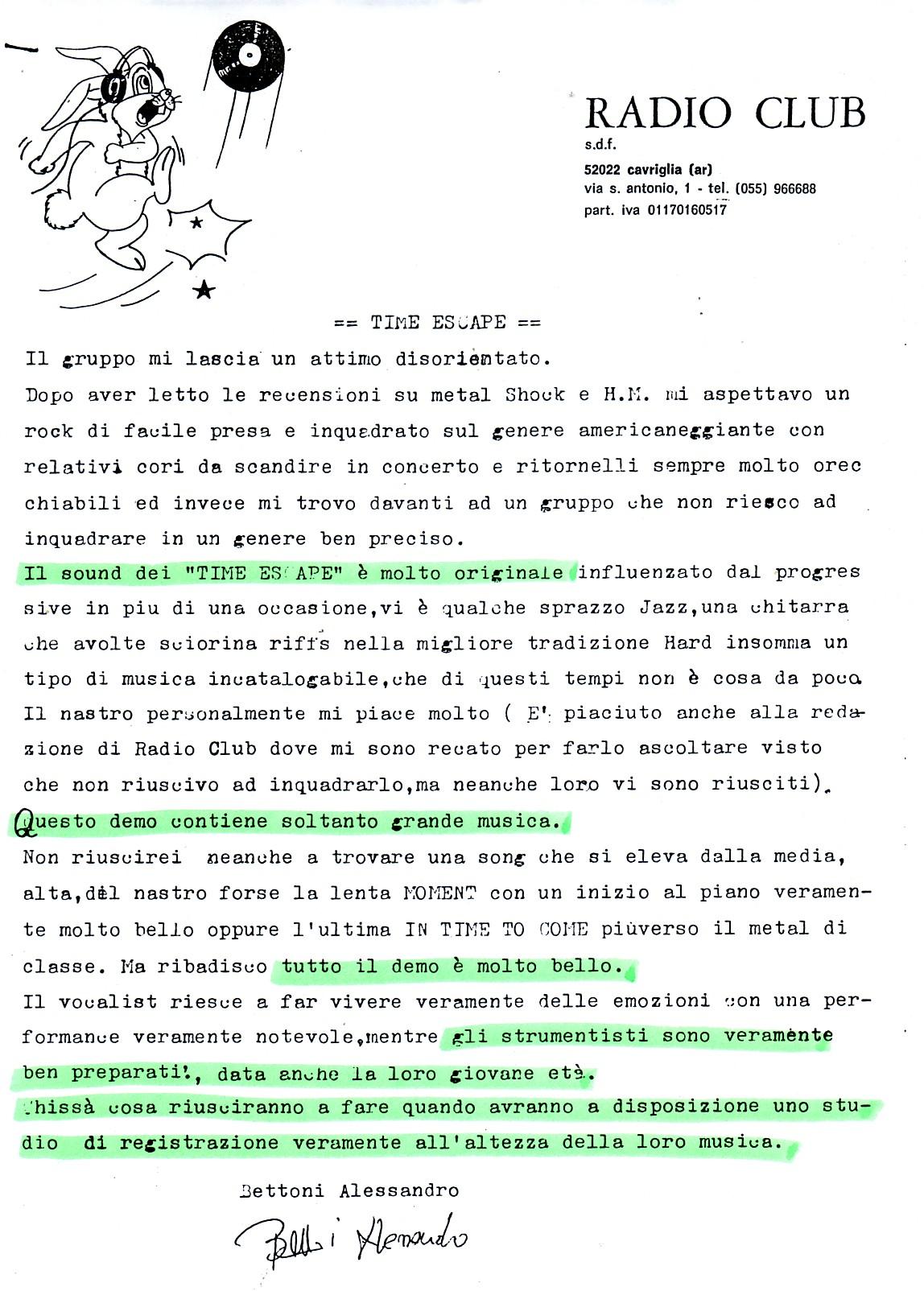 RADIO CLUB [1] (ITALY) - 1988