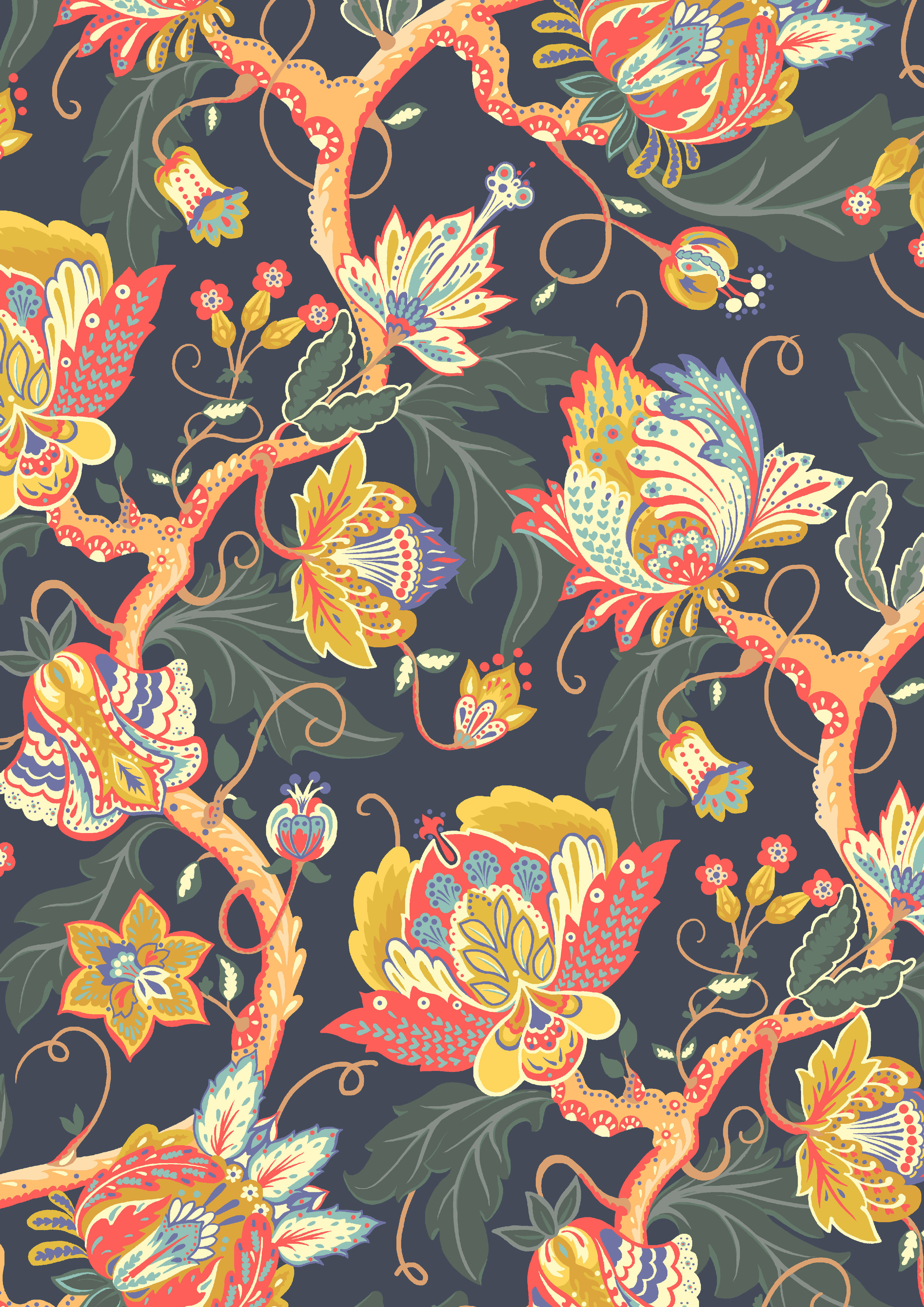 Weavers Bloom - Beyond the Silk Road - Liberty Fabrics 2016