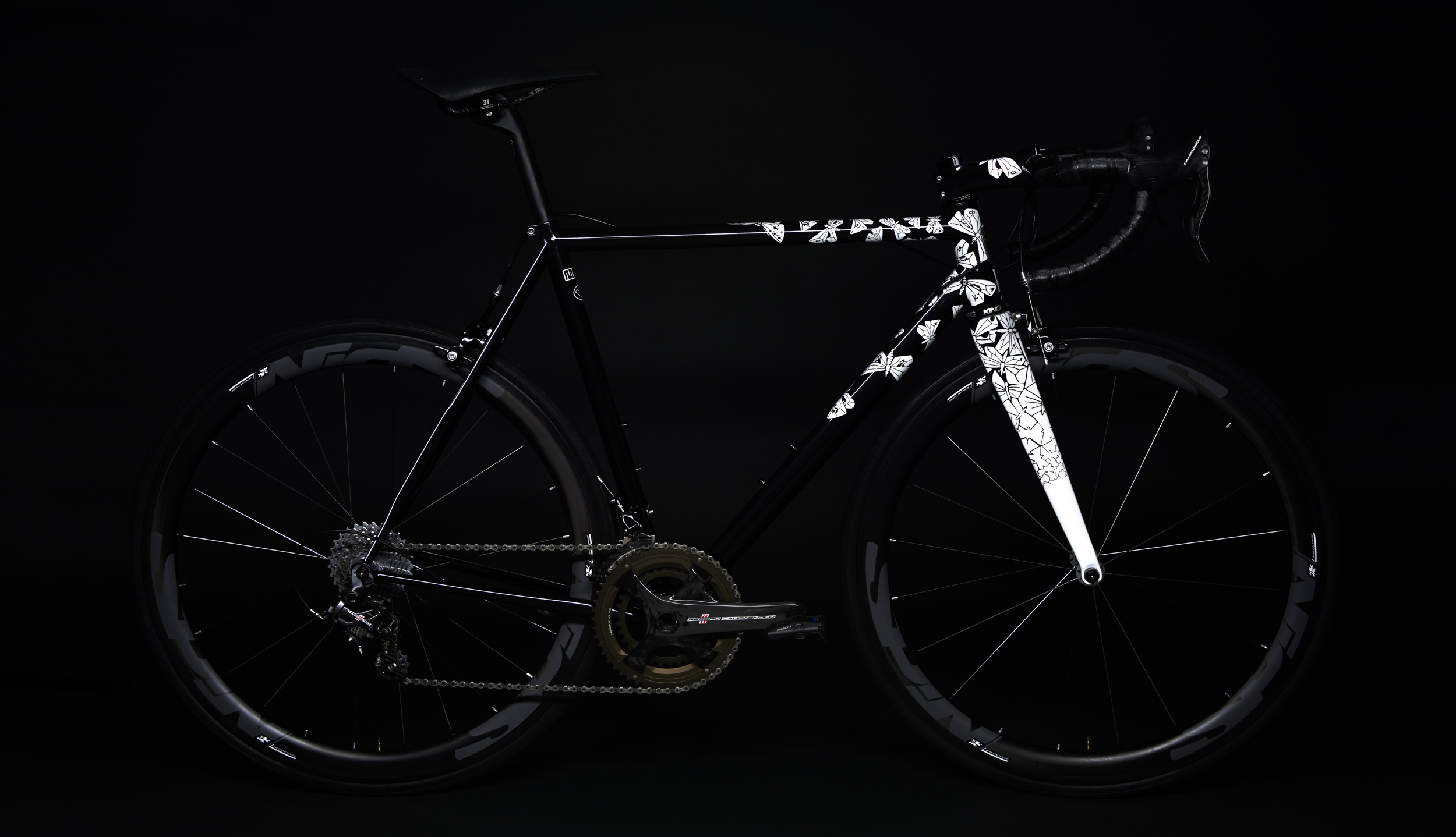 M.C. Escher's 'Butterflies' engineered to the frame of the Spoon Customs Izoard RR race bike