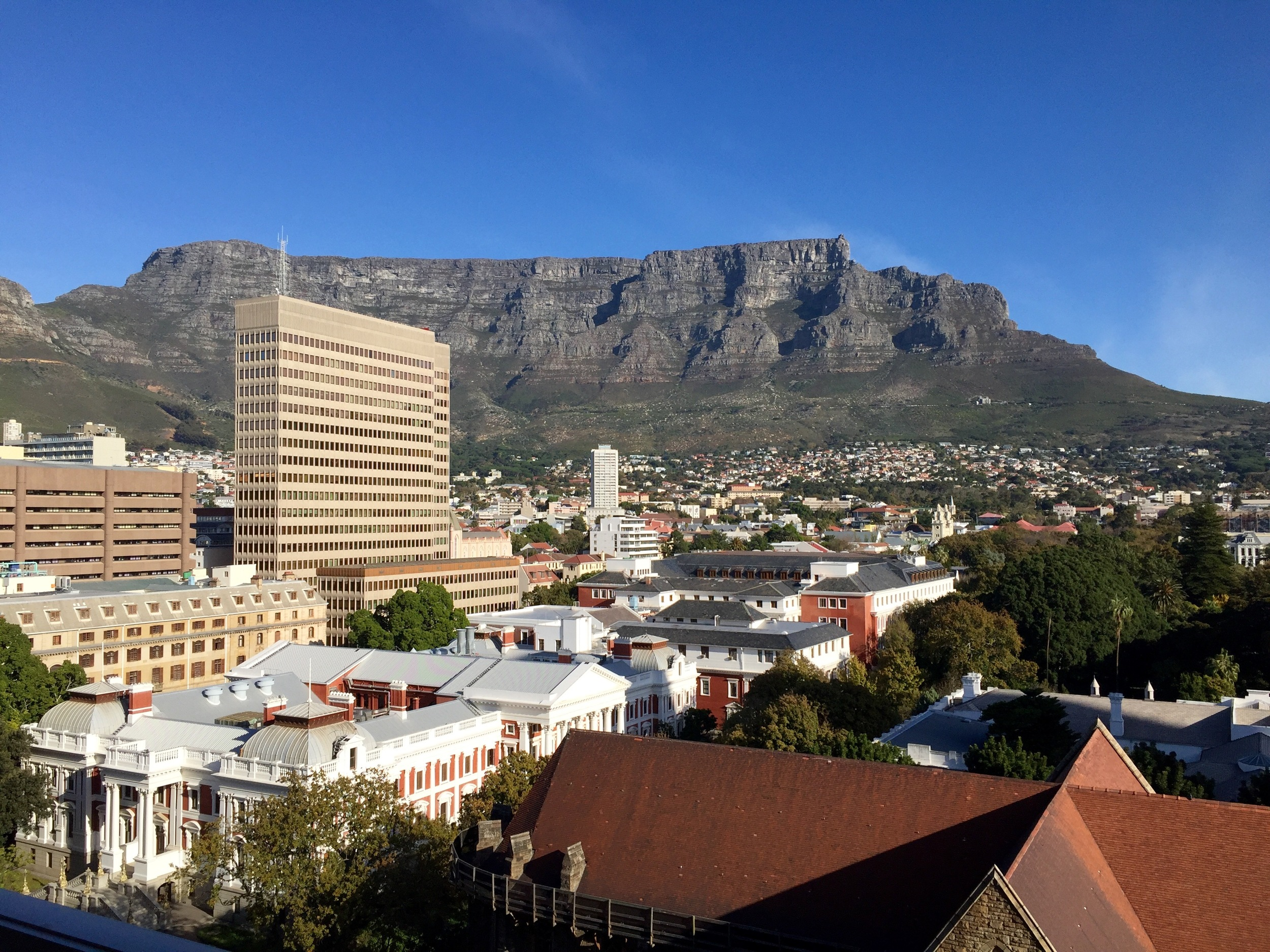 How's this for a #HotelRoomView? The new 7th Natural Wonder of the world, Table Mountain, as seen from my balcony. © Traverate 2016