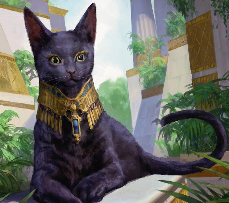 Sacred Cat // Zezhou Chen  This adorable kitten has has two lives with the Embalm mechanic.