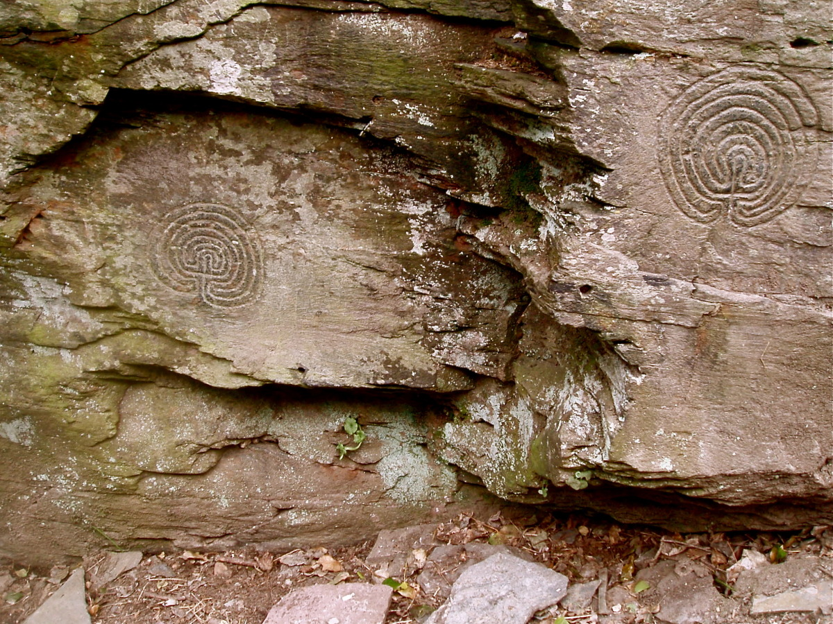 Neolithic Carvings, Rocky Valley, Tintagel