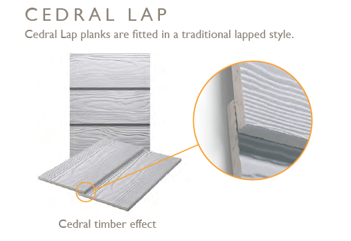 Available in two finishes - Cedral timber effect and Cedral smooth finish