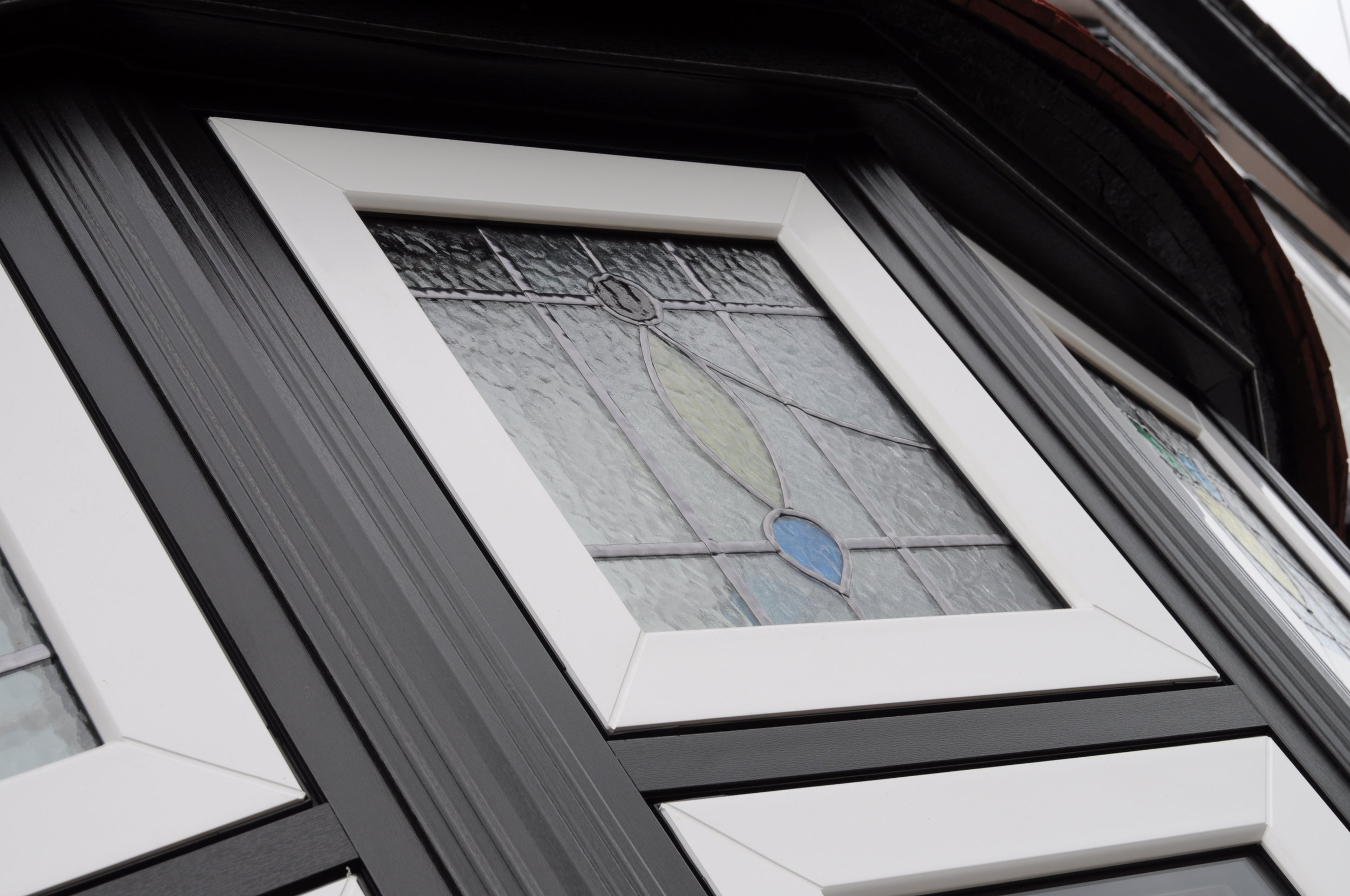 Timeless Flush Sash Classic Weld Close Up Stained Glass.JPG