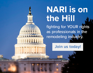 SAVE THE DATE: NARI's Annual DC Fly-In Event May 9-10  NARI is on the Hill, fighting for YOUR rights as professionals in the remodeling industry. NARI's lobbying efforts focus on nine federal advocacy priorities: Energy efficiency, tax reform, industry regulation, work force development, small business programs, and financing and access to credit.