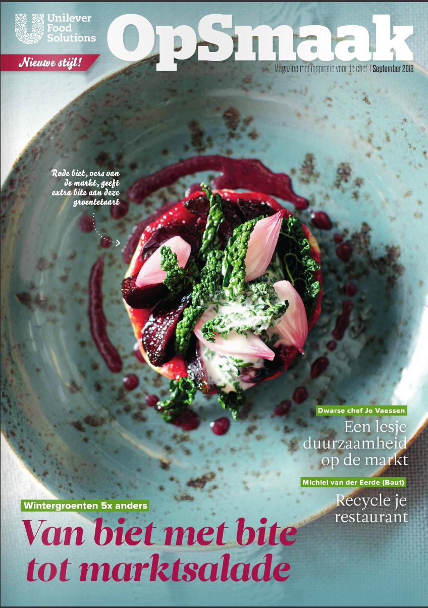 Coördinatie magazine voor Nederlandse chefs Op Smaak voor Unilever Food Solutions  (in vaste dienst bij Sanoma)