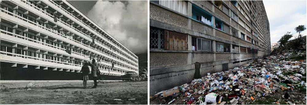 Blok P fra 1966 – i NUUK - revet ned 2012                                   St Etienne, Montchovet, France -https://hiveminer.com/Tags/architecture,chantier