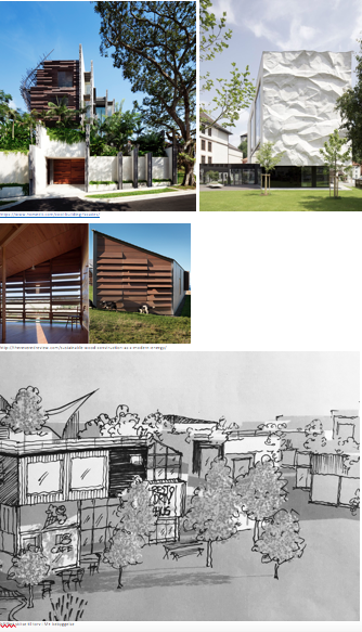 https://www.homedit.com/cool-building-facades/   http://thereveredreview.com/sustainable-wood-construction-as-a-modern-energy/  NPFlint skitse til torv i M+ bebyggelse