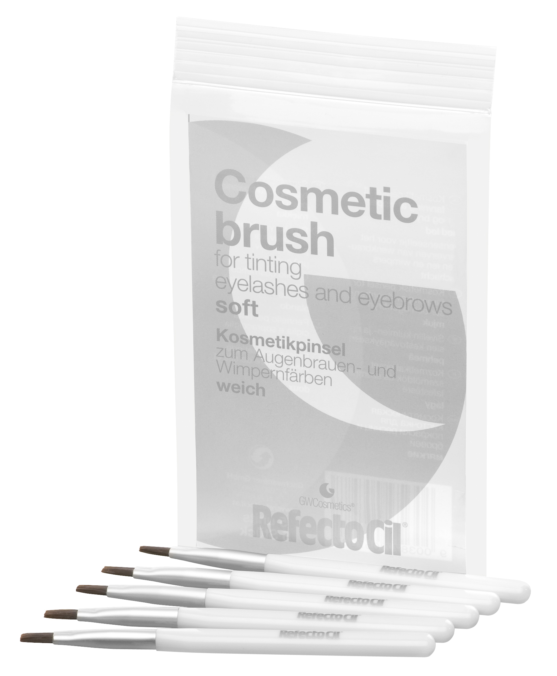 Cosmetic Brush - Silver/Soft